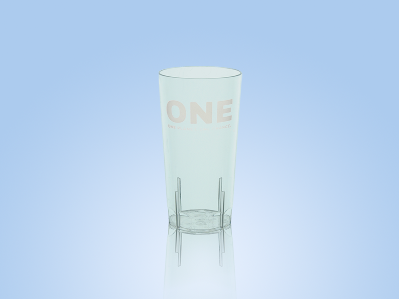 one reusable half pint