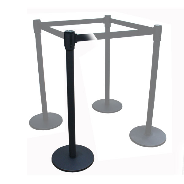 Freestanding Black Stretch Barrier