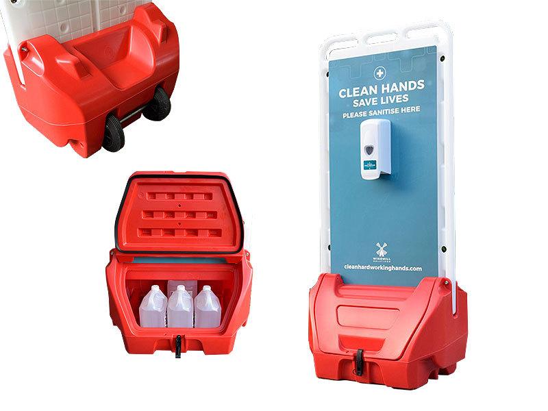 Double Sided Outdoor Hand Sanitiser Dispenser Station