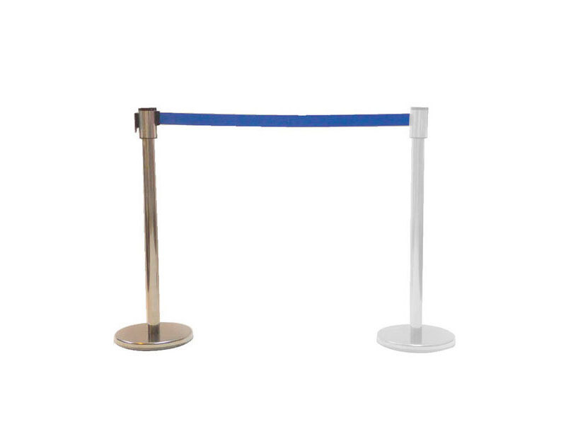 Freestanding Chrome Stretch Barrier