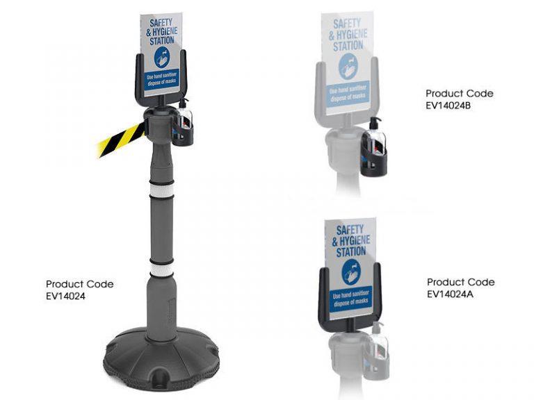 Retractable Queue System Post