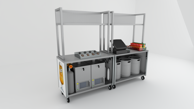 Hire Bottoms Up Mobile Bars 1