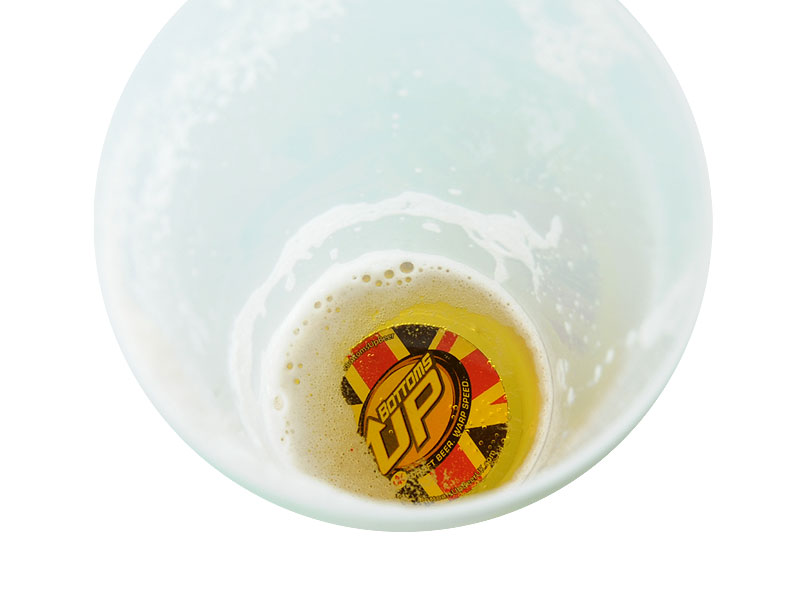 Bottoms Up Reusable Pint With Magnet 1