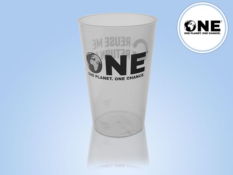 Official ONE Polypropylene Reusable Pint To Brim (20oz) 2